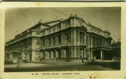 ARGENTINA - BUENOS AIRES - TEATRO COLON - RPPC POSTCARD 1948 (BG1786) - Argentine
