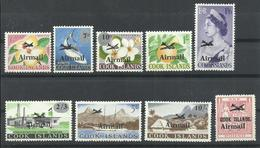 COOK  YVERT AEREA  1/9  MNH  **, EXCEPTO 1 MH  * - Islas Cook