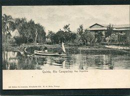 CPA - Rep. Argentina - QUINTA - Rio Carapachay, Animé  (dos Non Divisé) - Argentine