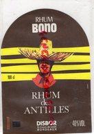 33 - BORDEAUX- ETIQUETTE RHUM BONO-RHUM DES ANTILLES - DISBOR 12 COURS DE LUZE - Rhum