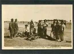 Carte Photo - ARGENTINA - Costumbres Campestres - Grupo De Gauchos - Argentine