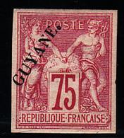GUYANE - N° 14* - SAGE - 75c Carmin - Signé Brun - Très Frais. - Guyane Française (1886-1949)