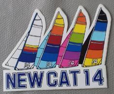 Autocollant NEWCAT 14 - Calvados – Course - Mer - Voilier – Marin - Aufkleber