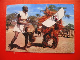 Masks And Dancers.Sent From BANGUI To LJUBLJANA - Central African Republic