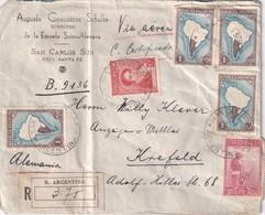 ARGENTINE 1937 LETTRE RECOMMANDEE DE SAN CARLOS AVEC CACHET ARRIVEE KREFELD - Argentine