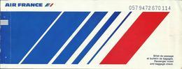 AIR FRANCE - Billet/Ticket Passager - 1983 - BORDEAUX/PARIS ORLY/CAYENNE/PARIS CDG/BORDEAUX - Tickets