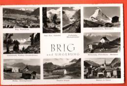 EBG-37 Brig Und Umgebung, Multivues, Naters Simplon Belalp, Bettmeralp,Saas-Fee,Furkabahn. Nicht Gelaufen, Gyger 17764 - VS Valais