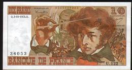 Billet 10 Francs Berlioz, Q.3-10-1974.Q.    U.122 - 1962-1997 ''Francs''