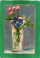 EDOUARD MANET TABLEAU  PEINTURE  VASE  FLEURS , CPA  N°1 - Paintings