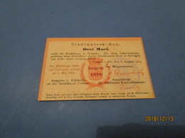 Billet De Nécessité COLMAR DREI MARK 1918 TTB - Besatzungsgebiete In Deutschland