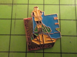 412C Pins Pin's / Rare & De Belle Qualité  THEME : VILLES / MIMIZAN PLAGE LANDES BERGER ECHASSES DUNE - Villes
