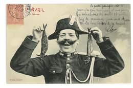 CPA HUMOUR BERGERET 1er AVRIL 3 FRERES Gendarme Bicorne - Humour