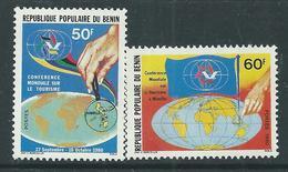 Bénin  N° 503 / 04 XX  Conférence Mondiale Du Tourisme Les 2 Valeurs Sans Charnière, TB - Benin - Dahomey (1960-...)
