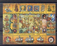 YOUGOSLAVIE  Timbre Neuf ** De 1992  ( Ref 974 ) EUROPA  Christophe Colomb - Blocs-feuillets