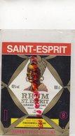 33- BORDEAUX- ETIQUETTE RHUM SAINT ESPRIT- ETS. A. TEISSEDRE - Rhum