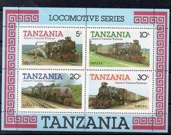 TANZANIE  Timbres Neufs ** De 1985  ( Ref 5872 )  Transport- Trains - Tanzanie (1964-...)