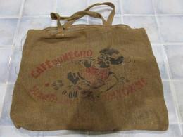 Sac En Toile De Jute Ancien Cafe Du Negro Bayonne - Publicité
