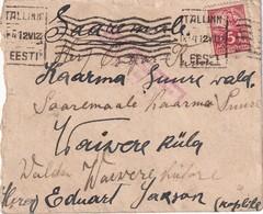 ESTONIE 1922 LETTRE DE TALLINN - Estonie