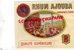 ETIQUETTE RHUM AJOUBA- RHUMERIE - Rhum