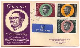 B-988 Ghana 1962. Patrice Lumumba. Philatelic Cover. - Ghana (1957-...)