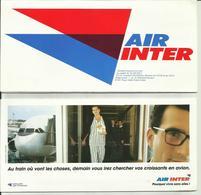 AIR INTER - Pochette Avec Billet De Passage/Bulletin Passager Et Carte D'Accès à Bord - 1993 - BORDEAUX/MARSEILLE - Tickets