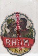 ETIQUETTE RHUM VIEUX - PLOUVIEZ PARIS - Rhum
