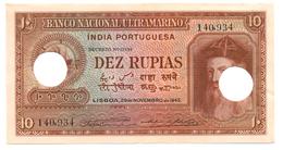 INDE PORTUGAISE 10 ROUPIES 1945 - India