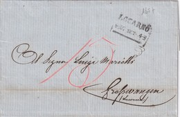 SUISSE 1857 LETTRE DE LOCARNO - Schweiz