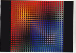 VASARELY Victor  Ed Du Griffon Suisse N° EG 1007   - Vascoeuil -   CPM  10,5x15 TBE Neuve - Peintures & Tableaux