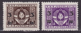 Yugoslavia 1949 Definitive With Overprint, MNH (**) Michel 581-582 - Unused Stamps