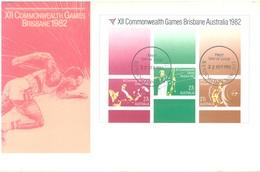 AUSTRALIA  - FDC - 22.9.1982 - COMMONWEALTH BRISBANE GAMES  - Yv 789-792 - Lot 18680 - Premiers Jours (FDC)