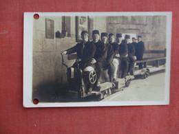 RPPC German  Mine  Tram- Has 2 Punch Hole Left Border    Ref 3100 - Cartoline