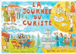 HUMOUR - La Journée Du Curiste - Matin En Ville - Arrosage - Loisirs Organisés - Boire Un Petit Coup - Cpm - écrite - - Humour