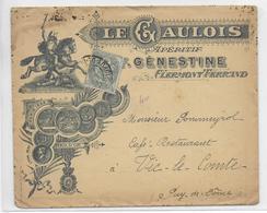 """1906 - ENVELOPPE PUB DECOREE De La DISTILLERIE """"CENESTINE"""" à CLERMONT-FERRAND - ALCOOL - Marcofilie (Brieven)"""