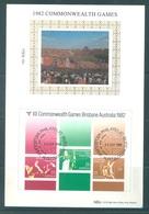 AUSTRALIA  - FDC - 22.9.1982 - COMMONWEALTH BRISBANE GAMES  - Yv BLOC 8 - Lot 18681 - SILK SOIE - Premiers Jours (FDC)