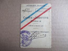 Carte D'itentité - Modèle A - Ville De Masevaut Alsace - Cartes