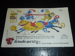 BUVARD ALBERT DUBOUT POUR LA VACHE QUI RIT: SERIE; Les Duels à Travers Les Ages Buvard N°4 (AD) - Alimentaire