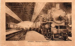 CPA Italie Marche Ancona Stazione Ferroviaria - Ancona