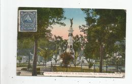 SAN SALVADOR C A 20 PARQUE DUENAS Y ESTATUA DE LA INDEPENDENCIA 1924 - Salvador