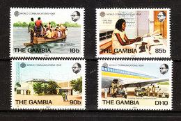 Gambia -1983. Tipi Di Comunicazione: Ferry, Telex, Radio, Aereo. Types Of Communication: Ferry, Telex, Radio, Plane. MNH - Telecom
