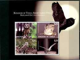 TONGA 2012** - Gufi - Owls - Block Di 4 Val. MNH, Come Da Scansione. - Gufi E Civette