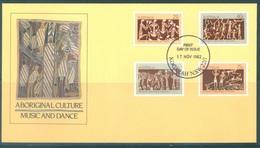 AUSTRALIA  - FDC - 17.11.1982 - ABORIGINAL CULTURE MUSIC DANCE  - Yv 797-800 - Lot 18682 - Premiers Jours (FDC)