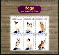 CANOUAN 2011** - Cani / Dogs - Block Di 6 Val. MNH, Come Da Scansione. - Cani