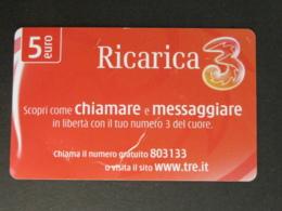 ITALY 3 - RICARICA 3 CHIAMARE E MESSAGGIARE - 20-NOV-2012 USATA - Italia