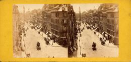 Paris, Rue, Traffique, - Photos Stéréoscopiques