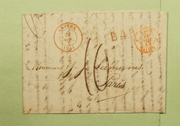 Lettre Anvers Pour Paris De 1841 Griffes B.4.R. Belgique Par ??  Port 10 Avec Cours De La Bourse Change - 1830-1849 (Belgique Indépendante)