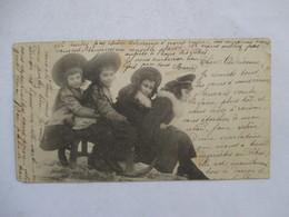 ENFANTS SUR UN TRAINEAU        -    PRECURSEUR DE 1901   -      MASSICOTEE - Tarjetas De Fantasía