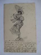 FEMME A L'OMBRELLE       -    PRECURSEUR DE 1901   -      TTB - Femmes