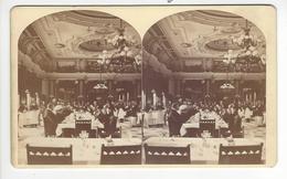 PHOTO STEREO WILLIAM NOTMAN (1826 - 1891) MONTREAL CANADA  Circa 1870 RESTAURANT  /FREE SHIPPING REGISTERED - Stereoscopic