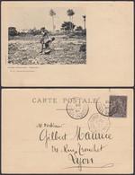 GUINEE 1903 CP De Conakry Vers Lyon Cachet Maritime (5G22568) DC-1195 - Guinée Française (1892-1944)